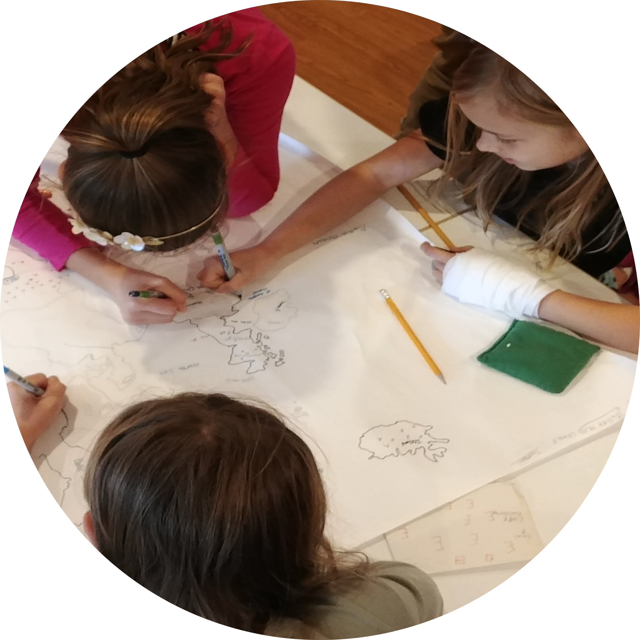 Montessori Elementary Students Complete Maps