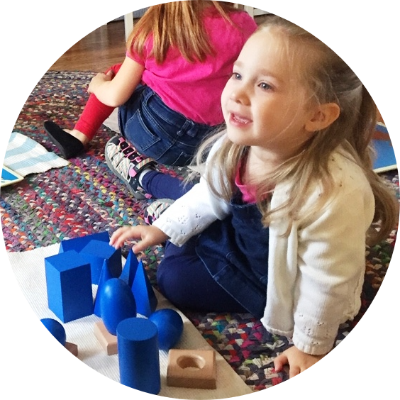 Primary Child with Geometry Blocks