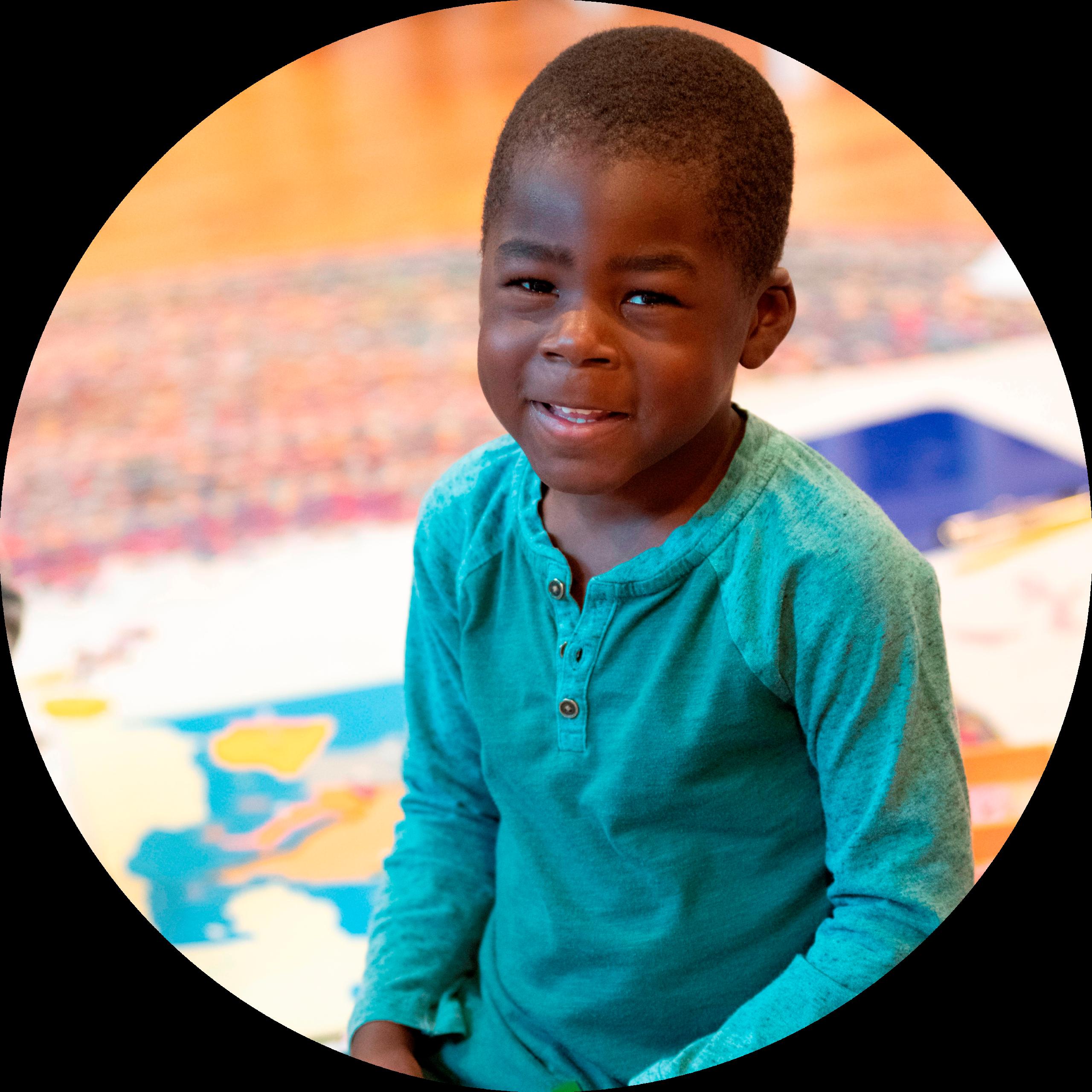 Smiling Primary Montessori Child