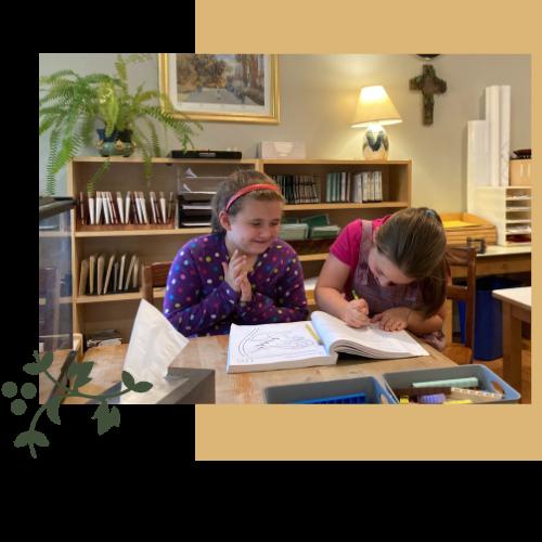 Children doing math at John XXIII